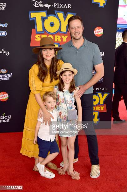 Tiffani Thiessen Brady Smith Harper Renn Smith and Holt Fisher Smith attend the premiere of Disney and Pixar's Toy Story 4 on June 11 2019 in Los...