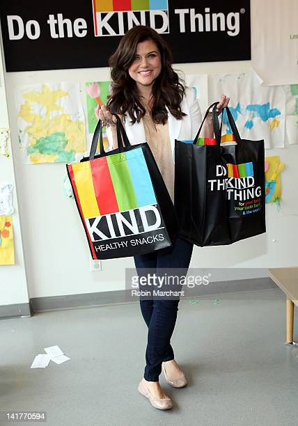 Tiffani Thiessen delivers diapers to local families in need through an initiative entitled Do the KIND Thing at Little Sisters of the Assumption on...