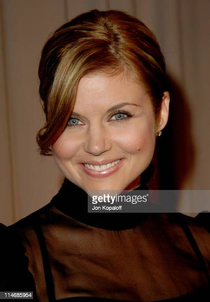 Tiffani Thiessen during 6th Annual Awards Season Diamond Fashion Show Preview Hosted by Diamond Information Center and In Style at Beverly Hills...