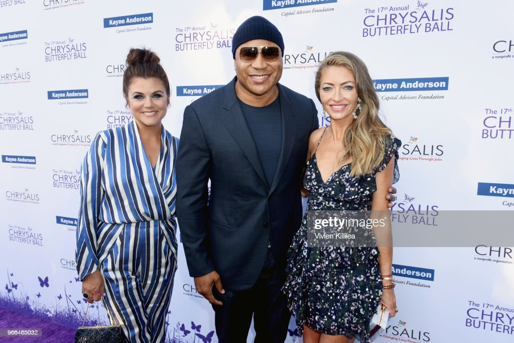 Tiffani Thiessen, LL Cool J and Rebecca Gayheart-Dane attended the 17th Annual Chrysalis Butterfly Ball in Los Angeles, CA on June 2, 2018.