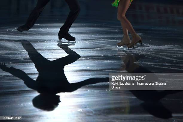 Tiffani Zagorski and Jonathan Guerreiro of Russia perform in the Gala Exhibition during day three of the ISU Grand Prix of Figure Skating NHK Trophy...