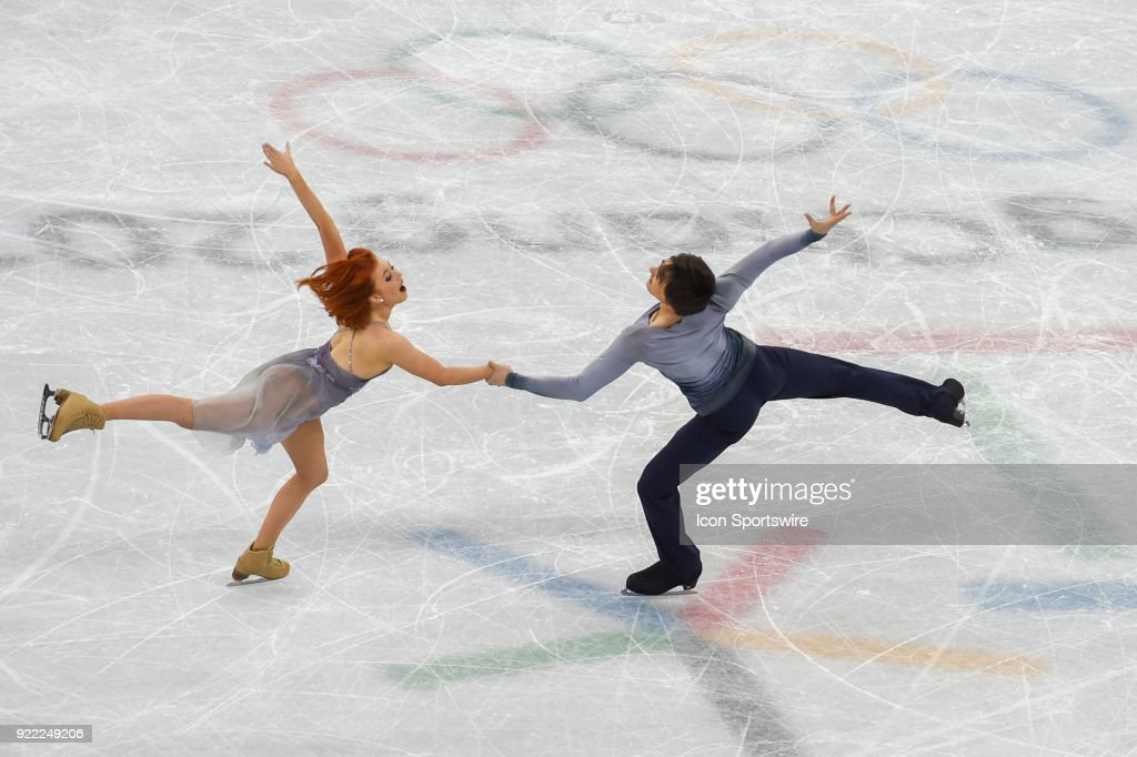 Tiffani Zagorski and Jonathan Guerreiro (OAR) skate in the free dance of the Ice Dancing competition during the 2018 Winter Olympic Games at the Gangneung Ice Arena on February 20, 2018 in PyeongChang, South Korea.
