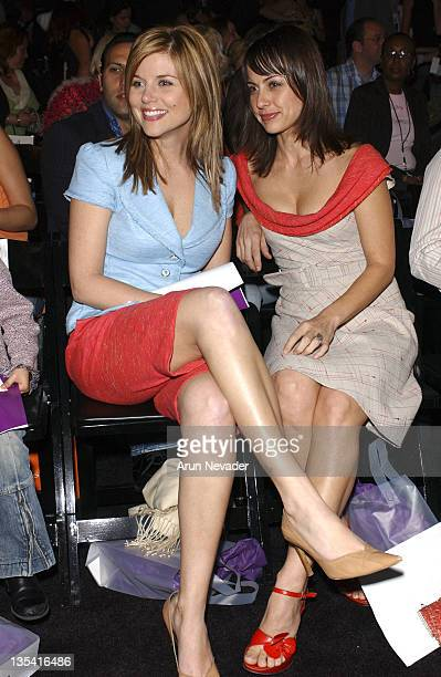 TiffaniAmber Thiessen and Constance Zimmer during MercedesBenz Fall 2005 LA Fashion Week at Smashbox Studios Petro Zillia Front Row at Smashbox...