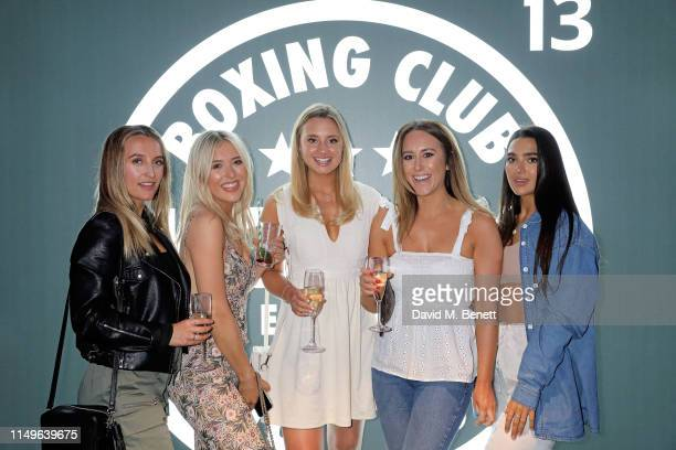 Tiffanie Watson Em Sheldon Tessa Kelly Becki Reben and Stef Williams attend KOBOX New Flagship studio launch party on King's Road on May 16 2019 in...