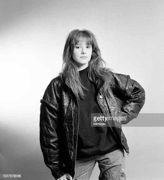 Tiffany american singer aged 16 years old poses for pictures Daily Mirror Studio London Thursday 21st January 1988 Tiffany is in the UK to promote...
