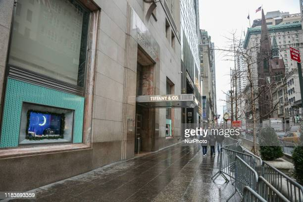Tiffany & Co. Or Tiffany's flagship store at the 5th Ave in New York City, United States of America. Tiffany's is an American luxury jewelry...