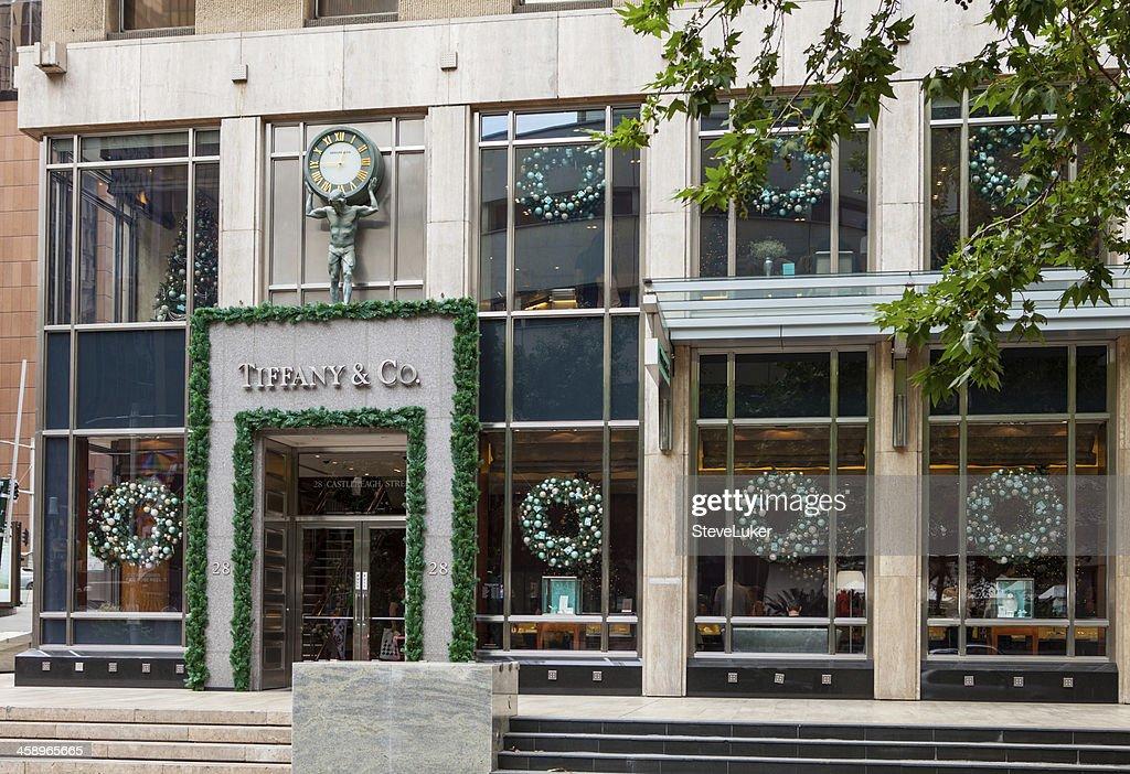 9e9dbb02aac Tiffany and Co shop front. Sydney Australia.   Stock Photo