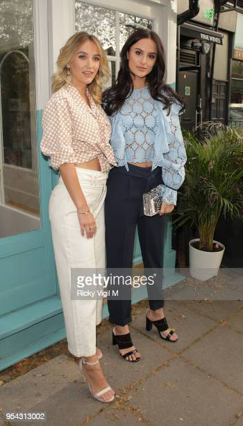 Tiffany and Lucy Watson seen attending Tell Your Friends restaurant launch party on May 3 2018 in London England