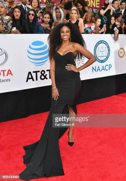 Tiffany Black at the 49th NAACP Image Awards on January 15 2018 in Pasadena California