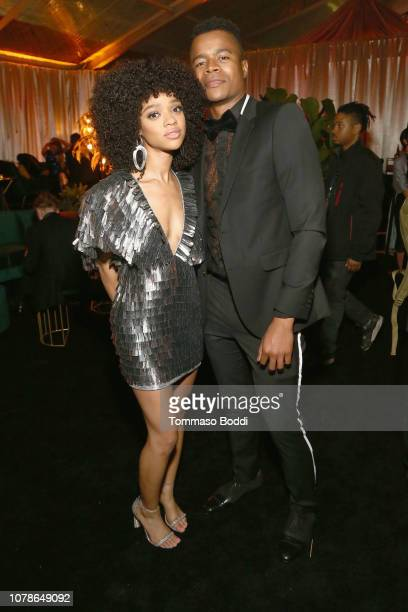 Tiffany Boone and Marque Richardson attend the Netflix 2019 Golden Globes After Party on January 6 2019 in Los Angeles California