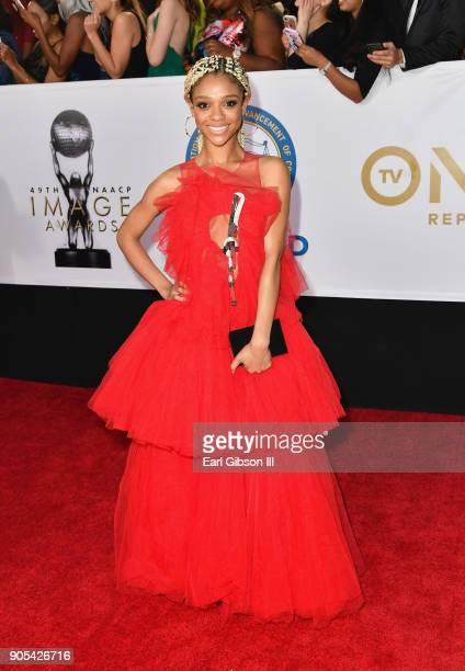 Tiffany Boone at the 49th NAACP Image Awards on January 15 2018 in Pasadena California