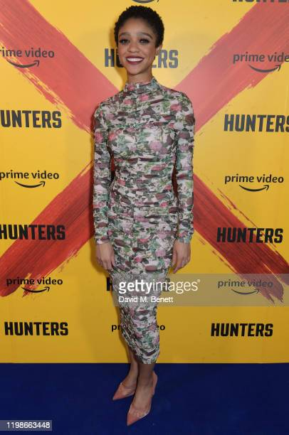 Tiffany Boone attends a screening and QA for Amazon Prime Video's upcoming Original series Hunters at Curzon Soho on February 4 2020 in London England