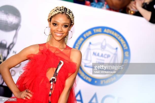 Tiffany Boone attends the 49th NAACP Image Awards at Pasadena Civic Auditorium on January 15 2018 in Pasadena California