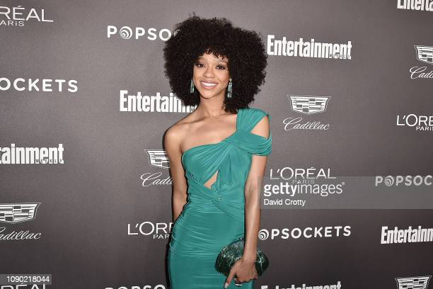 Tiffany Boone attends the Entertainment Weekly PreSAG Party Arrivals at Chateau Marmont on January 26 2019 in Los Angeles California