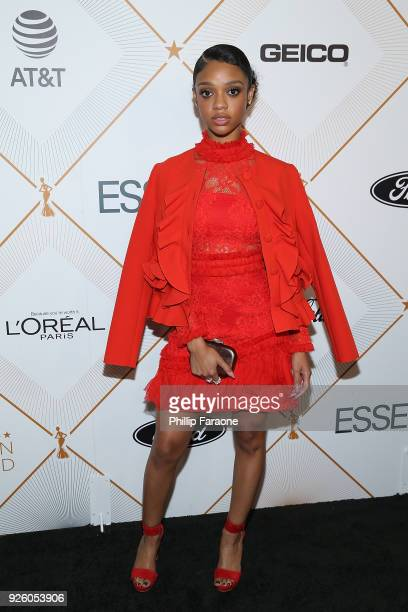 Tiffany Boone attends the Essence 11th Annual Black Women In Hollywood Awards Gala at the Beverly Wilshire Four Seasons Hotel on March 1 2018 in...