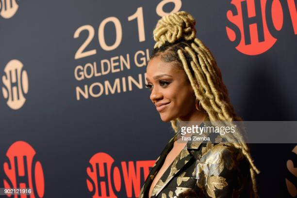Tiffany Boone attends the Showtime Golden Globe Nominees Celebration at Sunset Tower on January 6 2018 in Los Angeles California