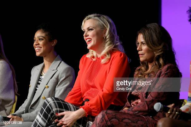 Tiffany Boone, Elaine Hendrix and Lisa Vidal attend SCAD aTVfest 2020 - Wonder Women: Acting For Television Presented By Entertainment Weekly press...