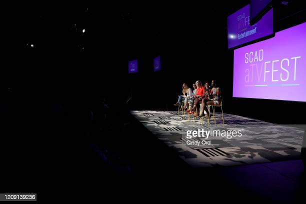 Tiffany Boone Elaine Hendrix Lisa Vidal and Xosha Roquemore attend SCAD aTVfest 2020 Wonder Women Acting For Television Presented By Entertainment...