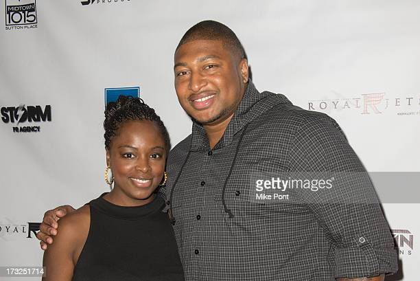 Tiffany Bowen and NFL Football Player Stephen Bowen attend Renee Graziano's Celebrity Dinner Party at Midtown 1015 on July 10 2013 in New York City
