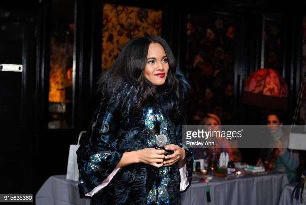 Tiffany Brevard attends Leesa Rowland's Animal Ashram PopUp Penthouse on February 7 2018 in New York City
