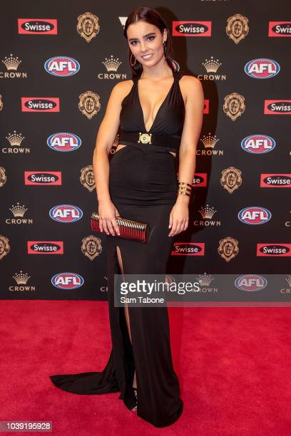 Tiffany Browne attends 2018 Brownlow Medal at Crown Entertainment Complex on September 24 2018 in Melbourne Australia