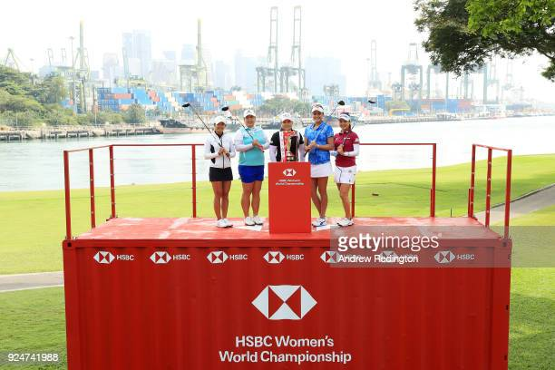 Tiffany Chan of Hong Kong Shanshan Feng of China Inbee Park of South Korea Lexi Thompson of the United States and So Yeon Ryu of South Korea pose...