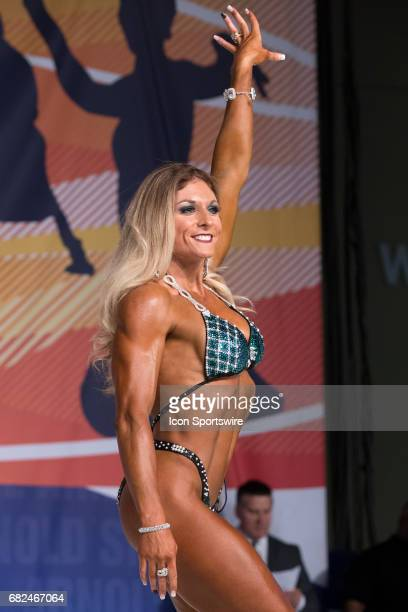Tiffany Chandler competes in Fitness International as part of the Arnold Sports Festival on March 3 at the Greater Columbus Convention Center in...