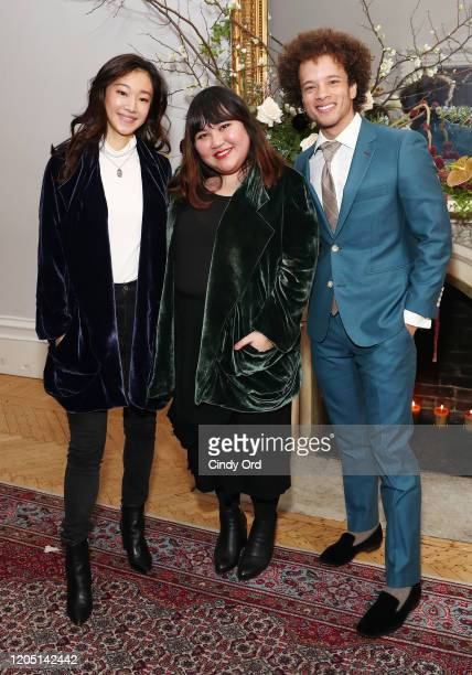Tiffany Chu Jasmine Chong and Damon Gillespie attend the Jasmine Chong runway show during New York Fashion Week on February 09 2020 in New York City