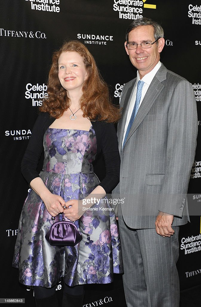CMO, Tiffany & Co. Caroline D. Naggiar (L) and Chairman & CEO, Tiffany & Co. Michael J. Kowalski arrive at the Sundance Institute Benefit presented by Tiffany & Co. in Los Angeles held at Soho House on June 6, 2012 in West Hollywood, California.