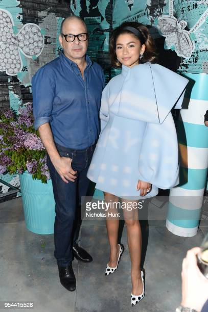 Tiffany Co Chief Creative Officer Reed Krakoff and Zendaya attend the Tiffany Co Paper Flowers event and Believe In Dreams campaign launch on May 3...