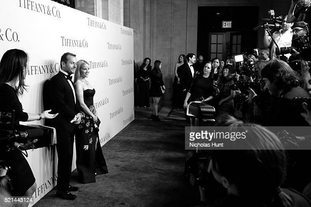 Tiffany Co Chief Executive Officer Frederic Cumenal and Actress Reese Witherspoon attend the Tiffany Co Blue Book Gala at The Cunard Building on...