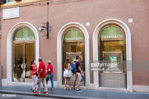 Tiffany & Co Shopping de luxe à Rome en Italie, Europe