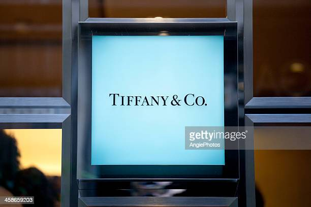 tiffany & co sign - tiffany co stock photos and pictures