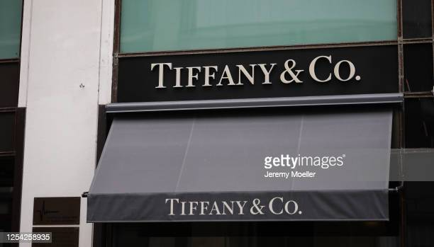 Tiffany & co sign store is seen on July 03, 2020 in Hamburg, Germany.