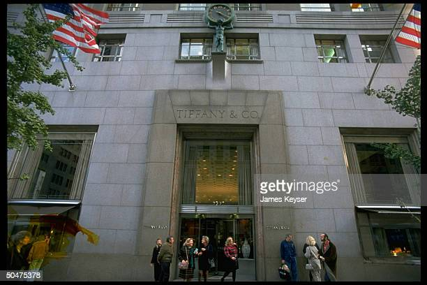 Tiffany & Co. Store facade on Fifth Avenue in NYC.