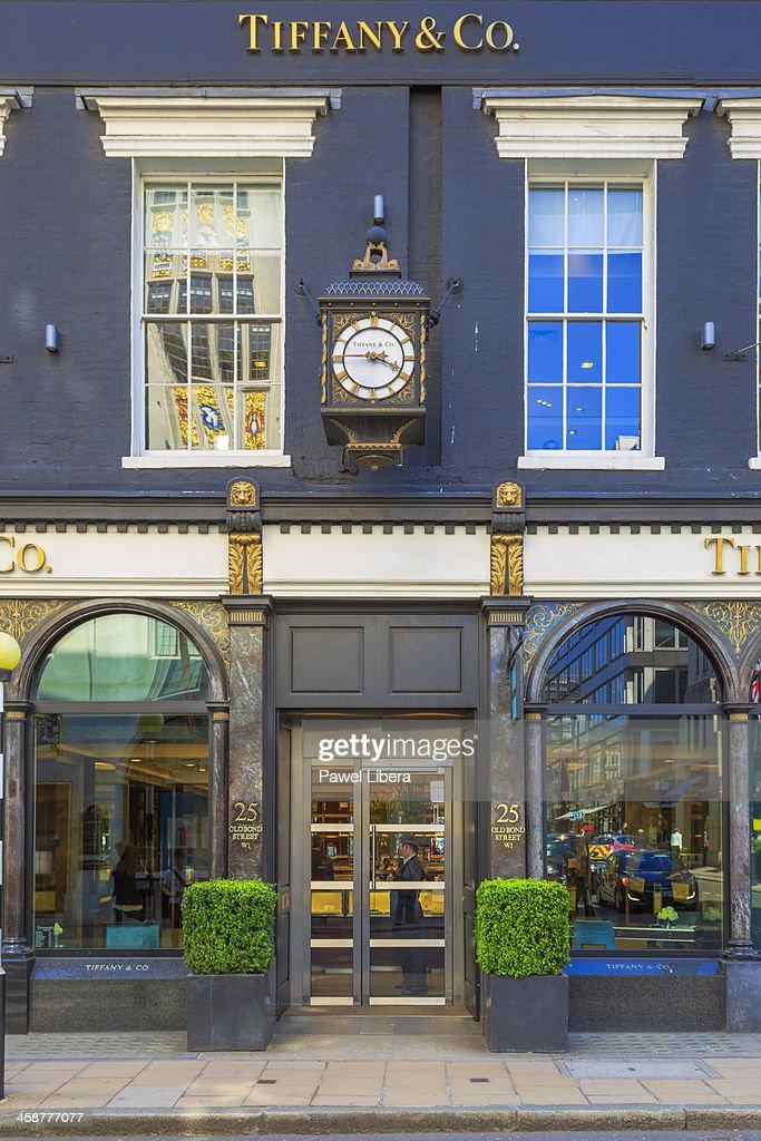 dc2e6fe418a Tiffany Co Store Old Bond Street London Stock Photo