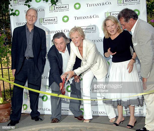 Tiffany Designer John Loring actor Robert De Niro actress Glenn Close actress Bette Midler and actor Frank Pellegrino cut the ribbon the Bette...