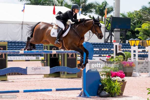 Tiffany Foster during the $70000 Hollow Creek 150M Classic at the Winter Equestrian Festival at The Palm Beach International Equestrian Center in...