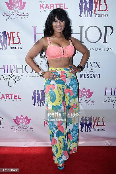 Tiffany Foxx attends the Legendary Recording HipHop Pioneer MC Lyte Kicks Off BET Experience Weekend With Rooftop Mixer at TenTen Wilshire on June 28...