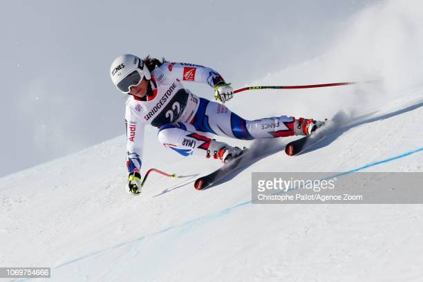 Tiffany Gauthier of France competes during the Audi FIS Alpine Ski World Cup Women's Super G on December 8 2018 in St Moritz Switzerland