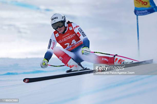 Tiffany Gauthier of France in action during the Audi FIS Alpine Ski World Cup Women's Super G on February 9, 2020 in Garmisch Partenkirchen, Germany.