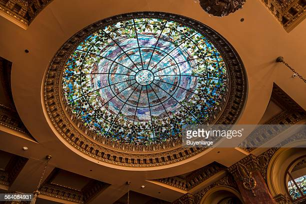 Tiffany glass dome in the Dome Bar of the Hotel Camino Real in El Paso Texas