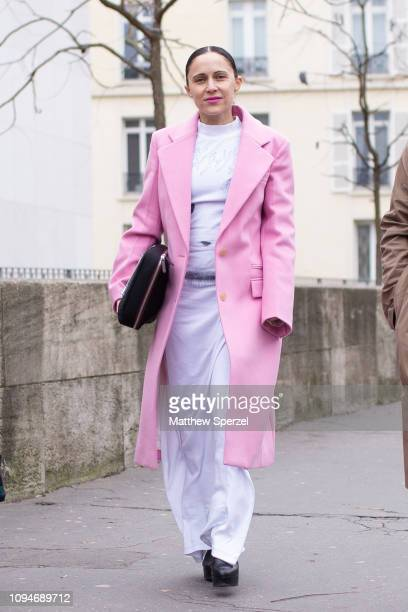 Tiffany Godoi Is Seen On The Street Attending The Heron Preston Show During Paris Mens Fashion
