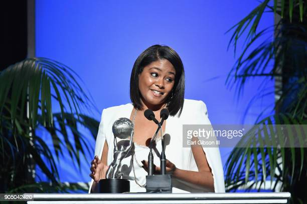 Tiffany Haddish accepts award for Outstanding Motion Picture Supporting Actress at the 49th NAACP Image Awards NonTelevised Awards Dinner at the...