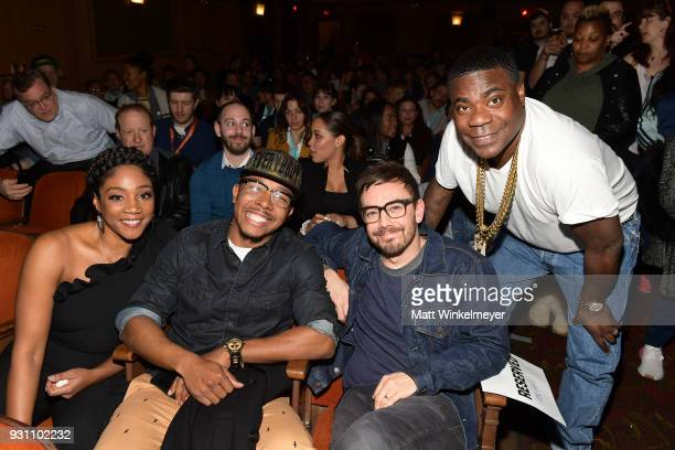 Tiffany Haddish Allen Maldonado Jorma Taccone and Tracy Morgan attend the 'The Last OG' Premiere 2018 SXSW Conference and Festivals at Paramount...