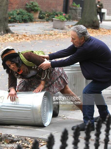 """Tiffany Haddish and Billy Crystal are seen on the set of """"Here Today"""" on October 28, 2019 in New York City."""