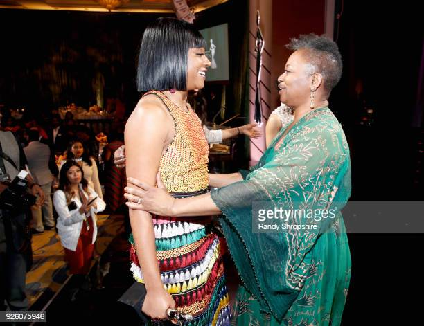 Tiffany Haddish and ESSENCE EditorinChief Vanessa K De Luca attend the 2018 Essence Black Women In Hollywood Oscars Luncheon at Regent Beverly...
