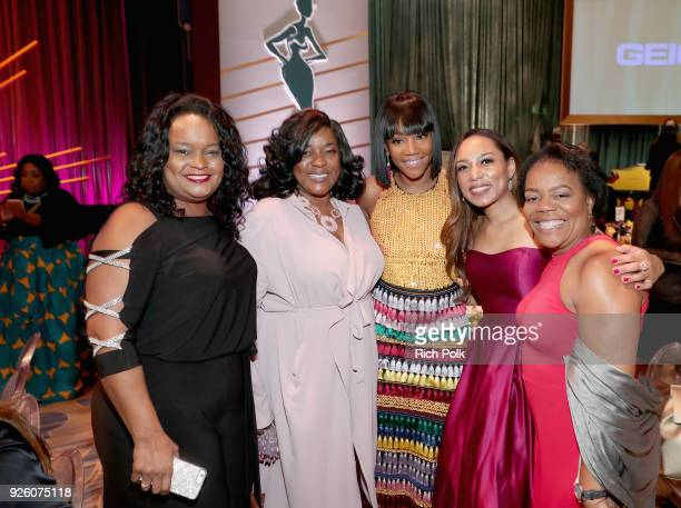 Tiffany Haddish and guests attend the 2018 Essence Black Women In Hollywood Oscars Luncheon at Regent Beverly Wilshire Hotel on March 1 2018 in...