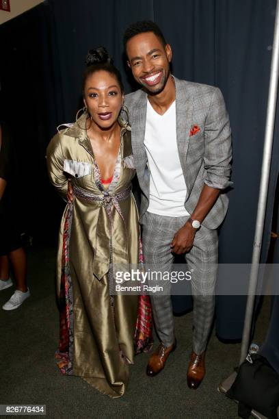 Tiffany Haddish and Jay Ellis attend Black Girls Rock 2017 at NJPAC on August 5 2017 in Newark New Jersey