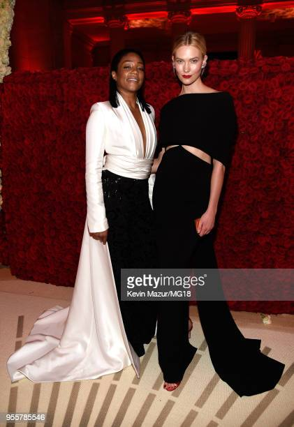 Tiffany Haddish and Karlie Kloss attend the Heavenly Bodies Fashion The Catholic Imagination Costume Institute Gala at The Metropolitan Museum of Art...